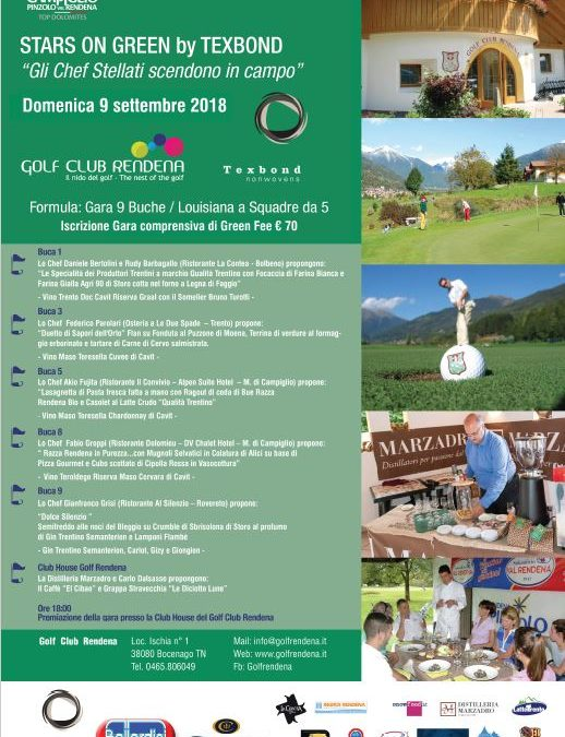 STARS ON GREEN by TEXBOND – 9 Settembre 2018