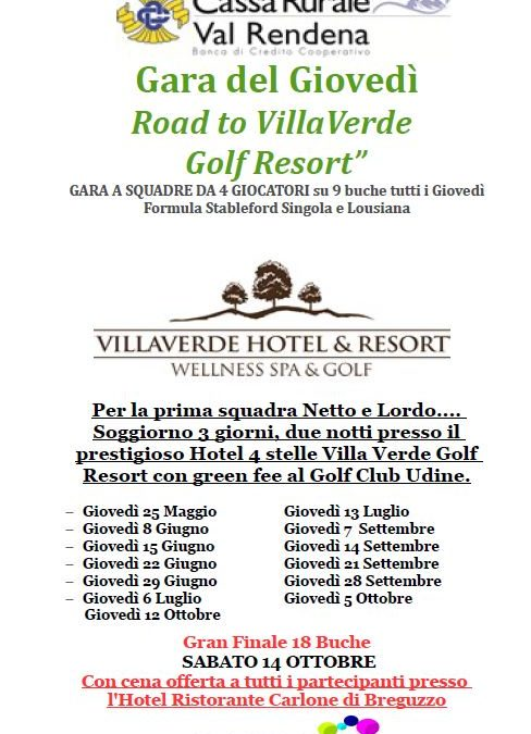 GARA DEL GIOVEDI' – ROAD TO VILLAVERDE GOLF RESORT by CASSA RURALE VAL RENDENA