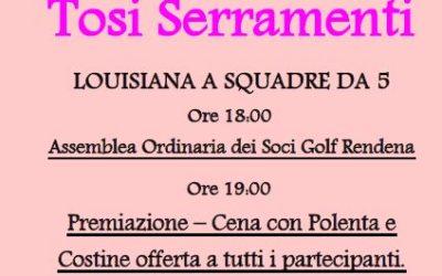 Domenica 2 Giugno – Trofeo Tosi Serramenti e Festa del Socio