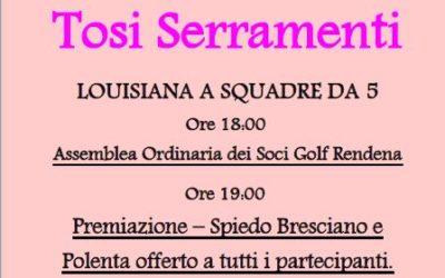Sabato 2 Giugno – Trofeo Tosi Serramenti e Festa del Socio